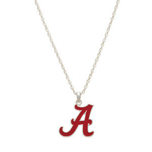 "University of Alabama ""A"" Necklace"