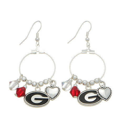 University of Georgia Love Earrings