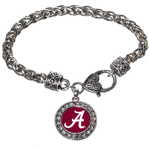 University of Alabama Rhinestone Bracelet