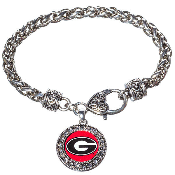University of Georgia Rhinestone Bracelet