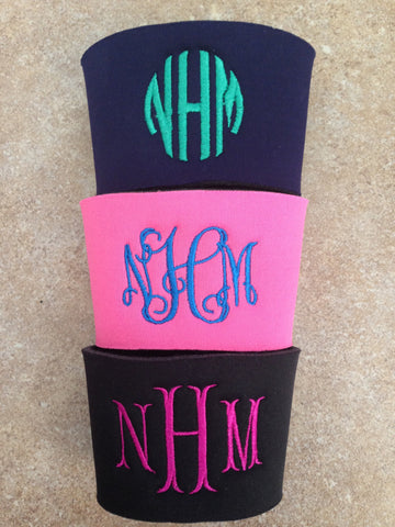 Coffee Sleeve Monogram Koozie