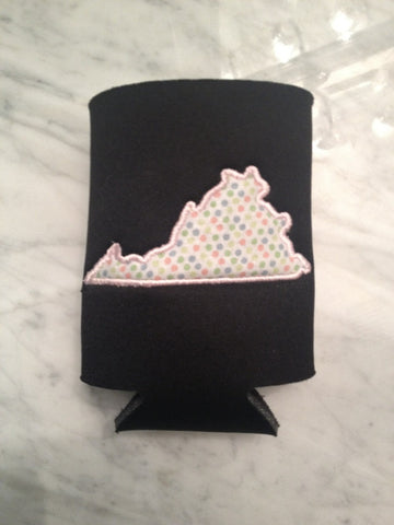 Preppy Virginia Koozie - Pick your fabric!