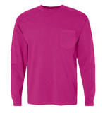 Monogrammed Comfort Color Long Sleeve Pocket Shirt