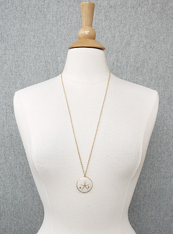 Gold Starfish Inlay Necklace