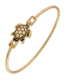 Gold Turtle Bangle