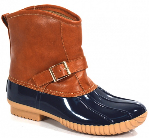 Slip-On Navy Duck Boots