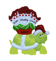 Christmas Package Turtle Ornament