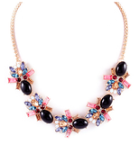 Multi Color Rhinestone Statement Necklace