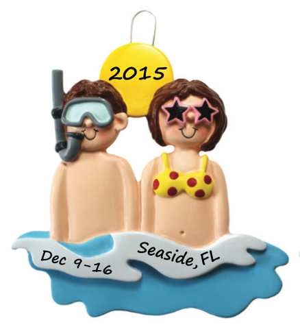 Beach Life Vacation Ornament