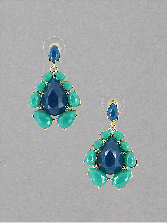 Dark Turquoise Statement Earrings