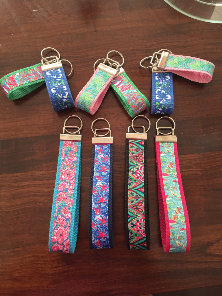 Lilly Pulitzer Inspired Keychain - Large
