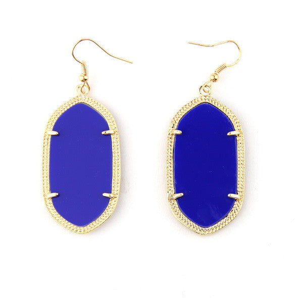 Daniella Inspired Earrings - Dark Blue