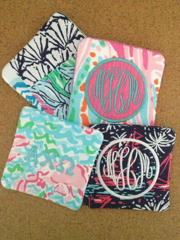 Preppy Lilly Pulitzer Coasters