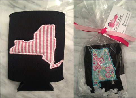 Preppy New York Koozie - Pick your fabric!