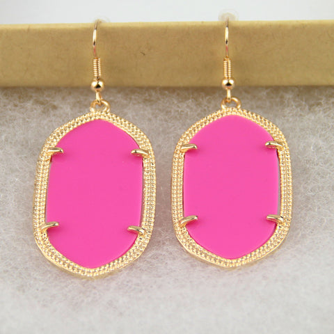 Daniella Inspired Earrings - Hot Pink
