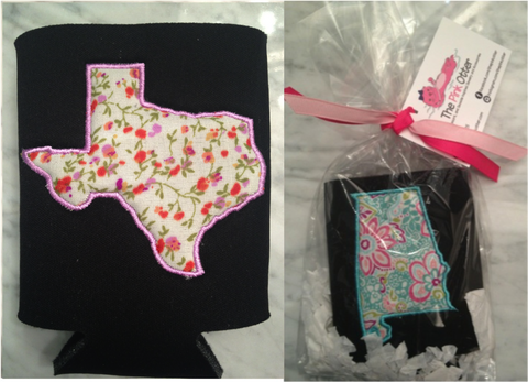 Preppy Texas Koozie - Pick your fabric!