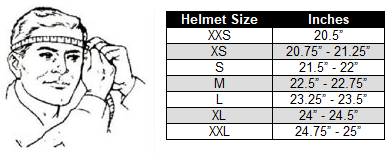 determining your motorcycle helmet size