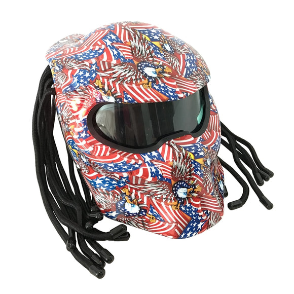 Flag Enforcer Predator Motorcycle Helmet