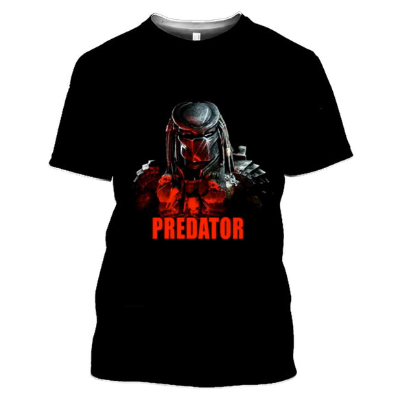 Predator Black Red T-Shirts