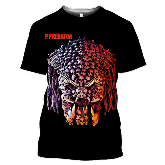 Predator Black Skull Open Teeth T-Shirts