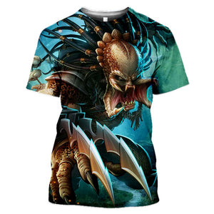 Predator Blue Open Teeth T-Shirts