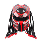 Red Tribal Predator Motorcycle Helmet