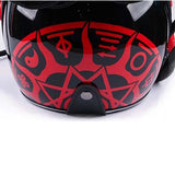 Red Elder Predator Motorcycle Helmet