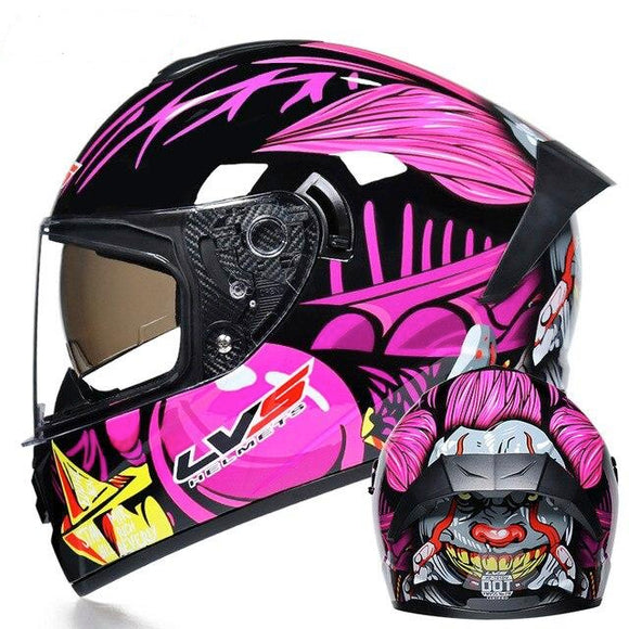 Purple Teeth DOT Certified Motorcycle Helmets