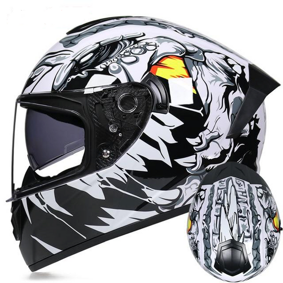 Shark White DOT Certified Motorcycle Helmets