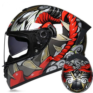Grey Red D.O.T Certified Motorcycle Helmets