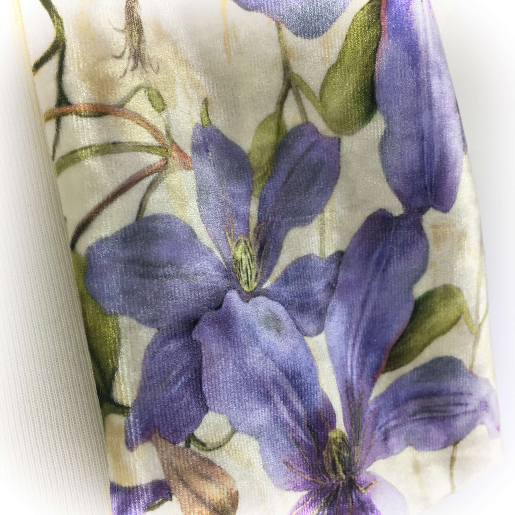 Periwinkle Clematis Scarf