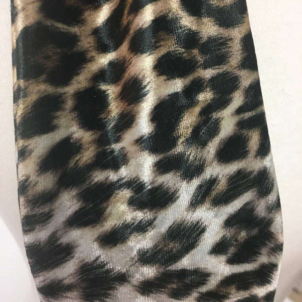 Black and Camel Leopard Scarf - All season velour - UndertheLeafDesigns.com