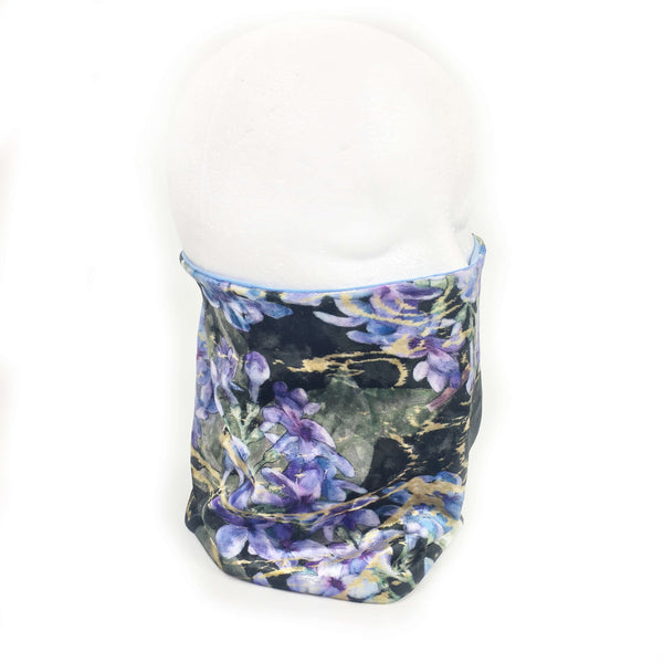 Lilacs and Modal Neck Scarf/FaceCover/Headband/HatBand/ - All season - UndertheLeafDesigns.com