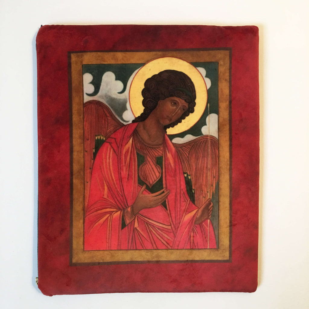 St. Michael the Archangel Icon IPAD Bag in Velvet - UndertheLeafDesigns.com