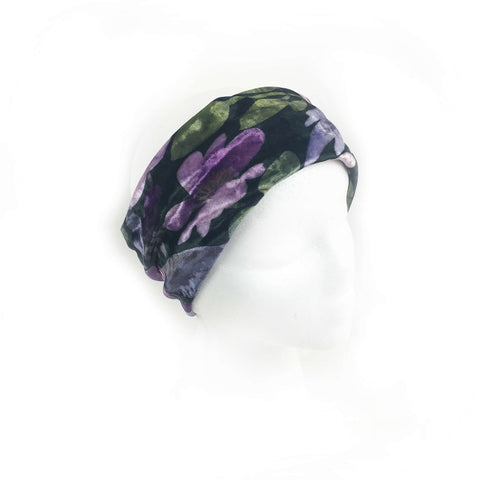 Modern Watercolor Designer Headband, Neck Scarf  - All season velour - UndertheLeafDesigns.com