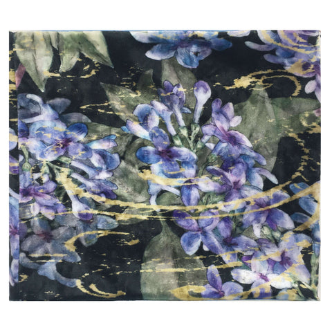 Black Lilac Convertible Scarf