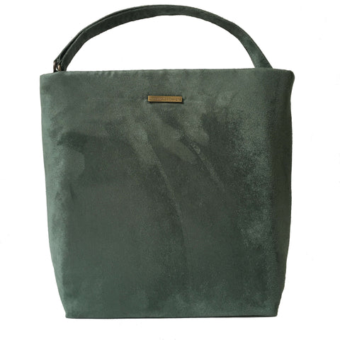 Forest Green Luxe Vegan Suede 5 Pocket Tote/ShoulderBag - UndertheLeafDesigns.com