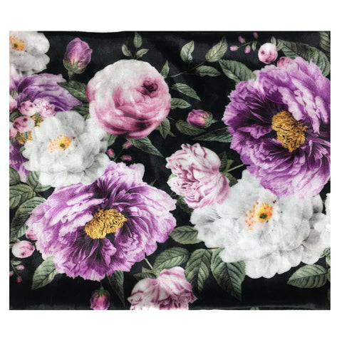Plum Floral Convertible Scarf