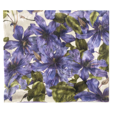 Periwinkle Clematis Convertible Scarf