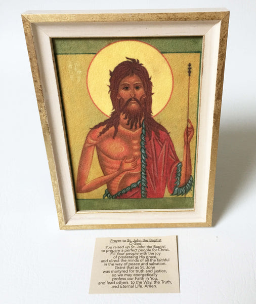 St.John the Baptist Icon in Velvet