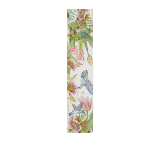 Hummingbird Garden Floral White Scarf - UndertheLeafDesigns.com