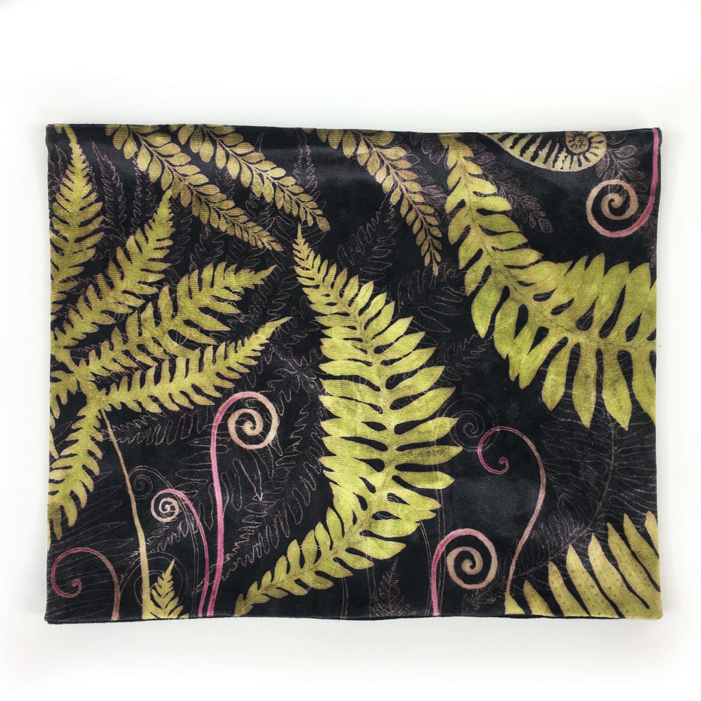 Ferns and Fiddleheads Velour and Modal Neck Scarf/FaceMaskCover/Headband/HatBand/ - All season