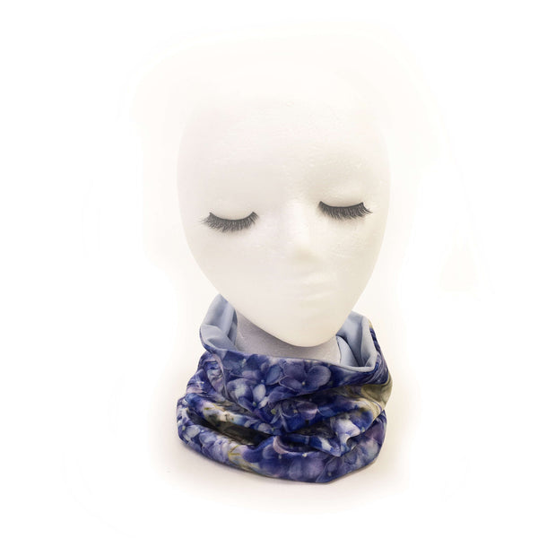 Lapis Blue Hyrdangeas Neck Scarf/FaceCover/Headband/HatBand/ - All season