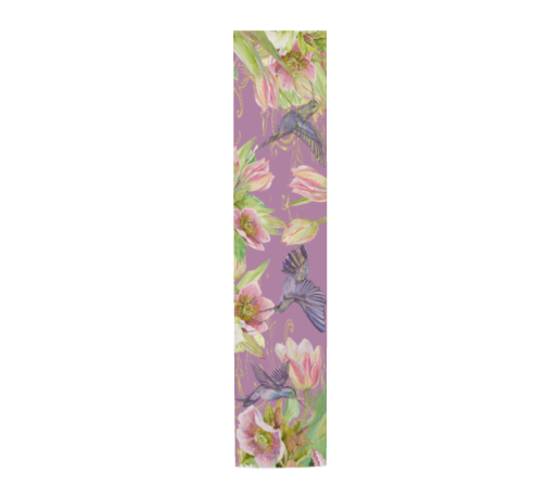 Hummingbird Garden Floral Purple Scarf - UndertheLeafDesigns.com
