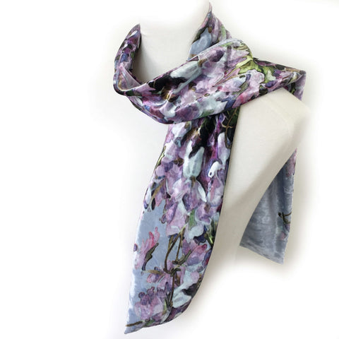 Violets Scarf - All season velour - UndertheLeafDesigns.com