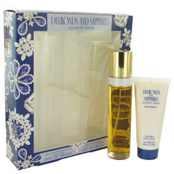 DIAMONDS & SAPHIRES by Elizabeth Taylor Gift Set -- 3.3 oz Eau De Toilette Spray + 3.3 oz Body Lotion (Women)