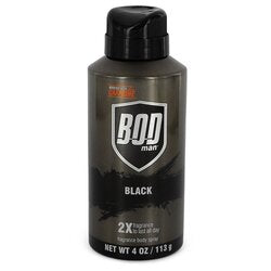 Bod Man Black by Parfums De Coeur Body Spray 4 oz (Men)