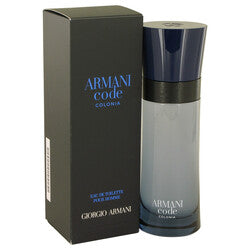 Armani Code Colonia by Giorgio Armani Eau De Toilette Spray 2.5 oz (Men)