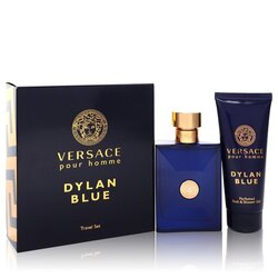 Versace Pour Homme Dylan Blue by Versace Gift Set -- 3.4 oz Eau de Toilette Spray + 3.4 oz Shower Gel (Men)