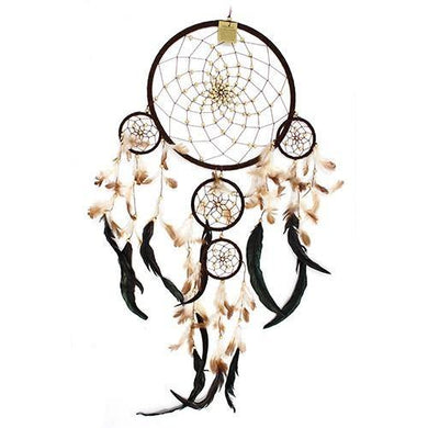 Bali Dreamcatchers - XLarge Round - Cream/Coffee/Choc - Angelo's Outlet Ltd